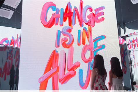 sk ii has a new pop up with neon installations in orchard