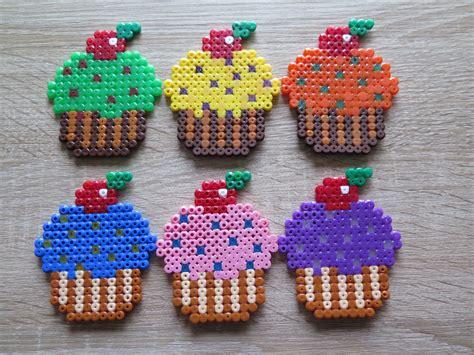 cupcake perler hama strijkkralen muffins cupcakes perler strijkkralen