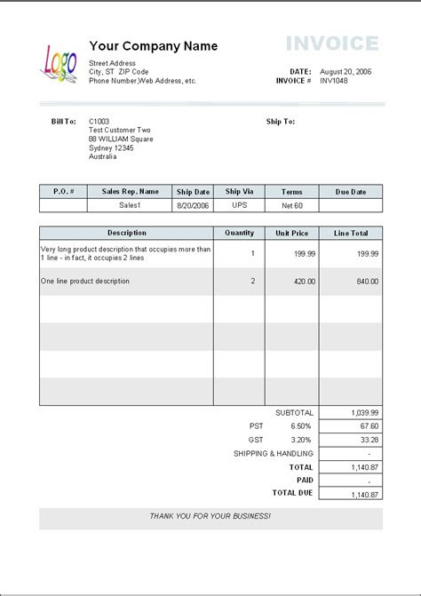 sales invoice templates 27 examples in word and excel