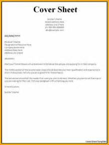 Cover Letter Template Pages by 9 Sle Cover Page Bursary Cover Letter