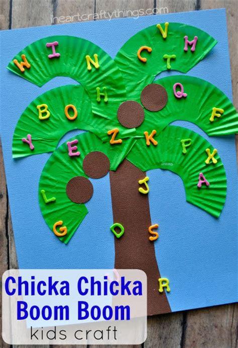 crafts preschoolers can make chicka chicka boom boom craft i crafty things
