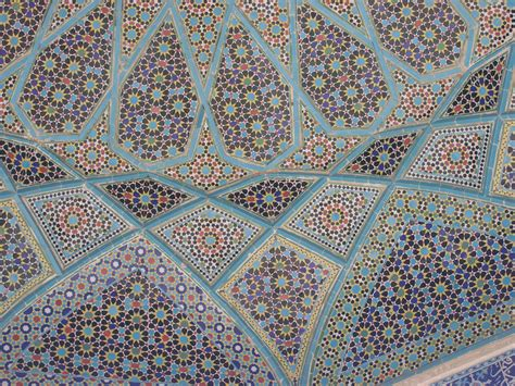 islamic pattern work shiraz aramgah e hafez tomb of hafez tombstone placed