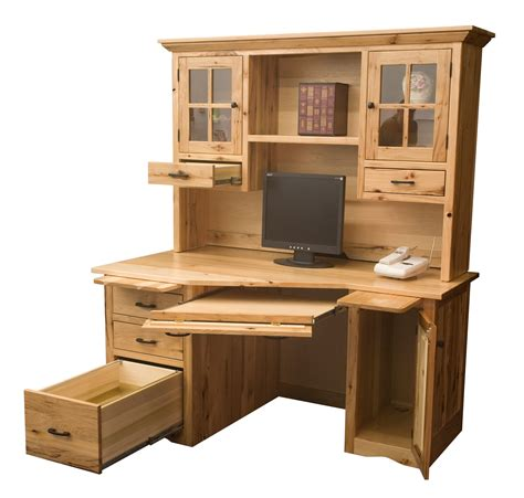 Wedge Computer Desk Amish Direct Furniture Desk Hutch