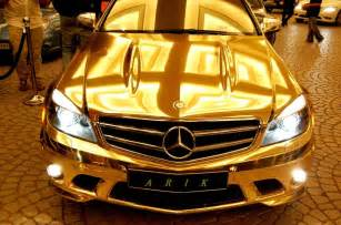 Who Made The Mercedes Check Out The Complete Mercedes Made From Real Gold