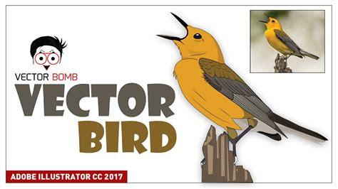 tutorial illustrator bird how to draw vector bird adobe illustrator cc 2017