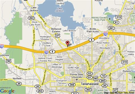 map of tallahassee florida map of inn and suites tallahassee tallahassee