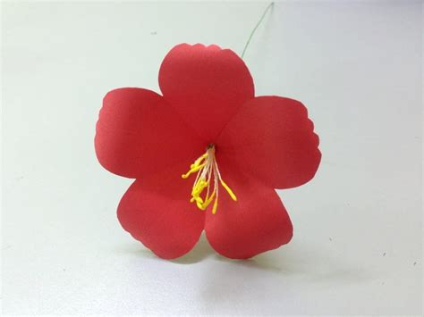 How To Make Hawaiian Flowers Out Of Paper - how to make hibiscus paper flower easy origami flowers