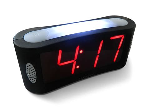no light alarm clock travelwey led digital alarm clock large light