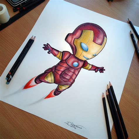 Tumbler 3d Iron baby iron pencil drawing by atomiccircus on deviantart