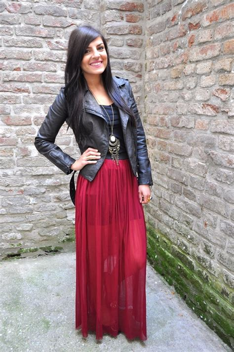 1000 ideas about burgundy maxi skirts on