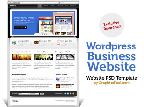 wordpress business website psd template psd file free