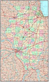 Map Of Illinois With Cities by Large Detailed Administrative Map Of Illinois State With