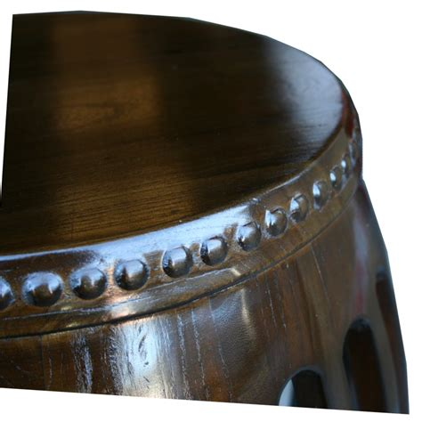 Wooden Drum Stool by Chair