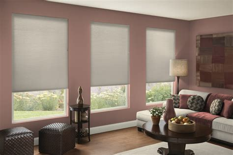 Grey And Mauve Living Room by Single Cell Light Filtering Shades In Gray Mauve Room