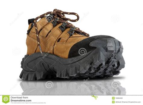 tough slippers tough trekking shoes stock image image of pair duty