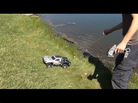 rc boats in the ocean rc fishing boat radio ranger test run in the ocean surf