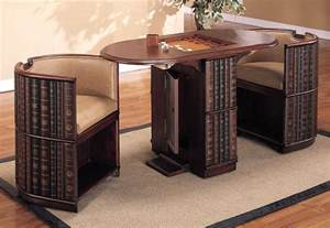 Pedestal Shelves D130 3666 Powell Furniture Library Game Table And 2 Chairs