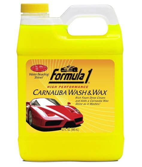 Carnauba Wash And Wax 473 Ml Formula 1 formula 1 carnauba wash wax car shoo 946 ml buy