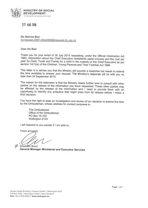 request letter to government official application letter new zealand