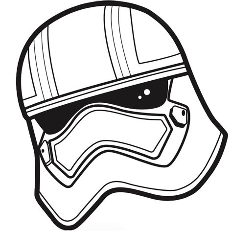 free coloring pages of stormtrooper helmet