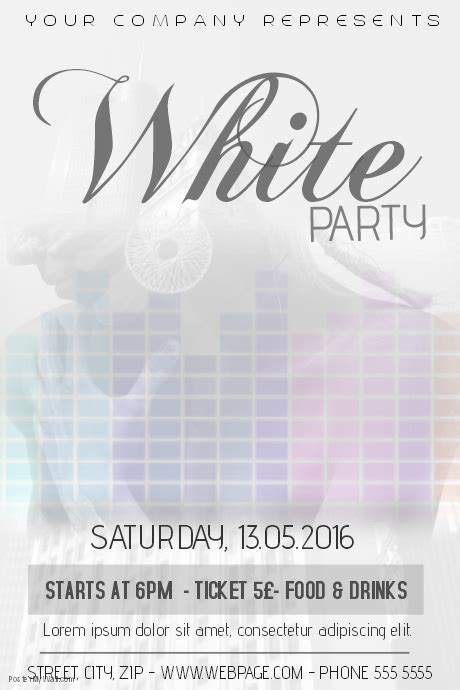 White Party Flyer Template Postermywall White Flyer Template