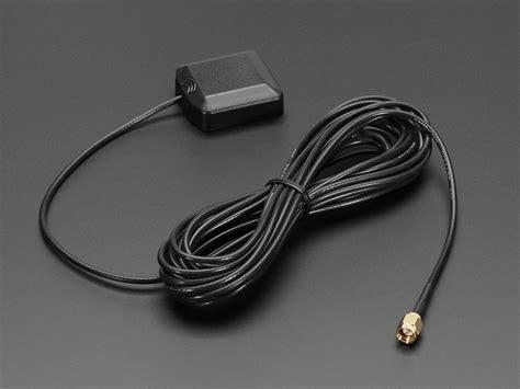gps antenna external active antenna   db  meter sma id   adafruit