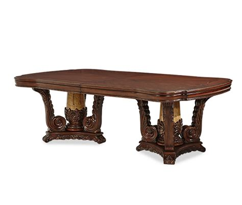 michael amini palace rectangular table dining set