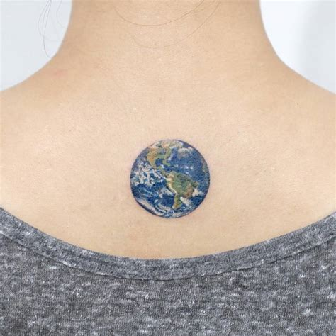 tattoo ideas earth earth planet tattoo on the upper back tattoo artist doy