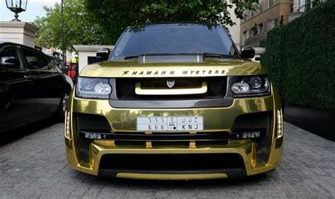 black and gold range rover saudi tourist flies gold range rover for