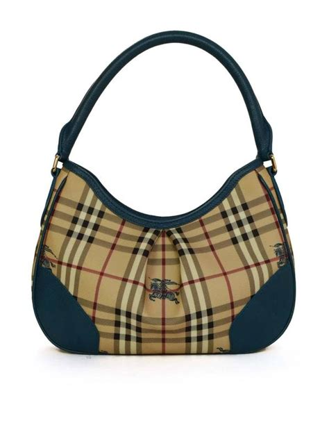 Sale Tas Burberry Set Pouch burberry plaid and teal shoulder bag with ghw for sale at 1stdibs