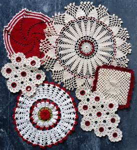 Crochet Home Decor Vintage Redwork Home D 233 Cor Set Crochet Pattern Pdf