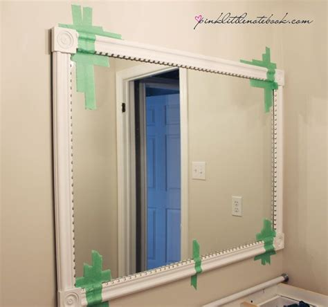 how to frame out a bathroom mirror frame out bathroom mirror for the home