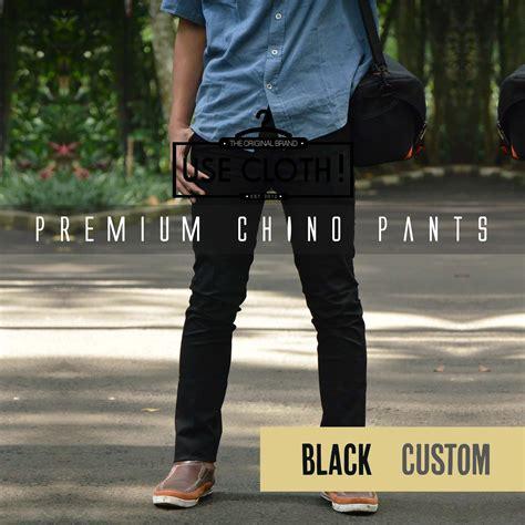 Celana Chino Cargo Jogger jual celana chino jogger cargo panjang black localbrand