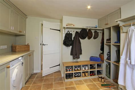 boot room designs handmade in frame kitchen in white country kitchen south east by beau port kitchens