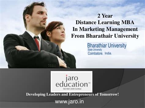 Why Get An Mba In Marketing by Diatance Learning Mba In Marketing Management Jaro Education