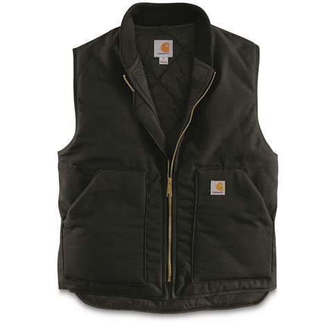 carhartt rugged work vest carhartt s duck vest 655005 vests at sportsman s guide
