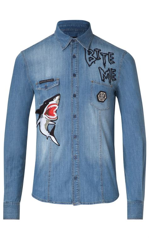 Philipp Plein Denim Shirt by Philipp Plein Denim Shirt Mens Your Denim Shirt