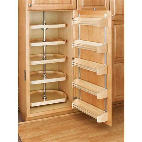 shop rev a shelf 5 tier wood d shape cabinet lazy susan at