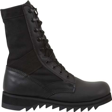 ripple sole boots black ripple sole 10 quot jungle leather boots ebay
