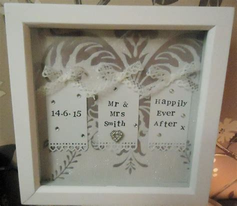 Wedding Box Frame by Mr Mrs Wedding Box Frame Keepsake Personalised With