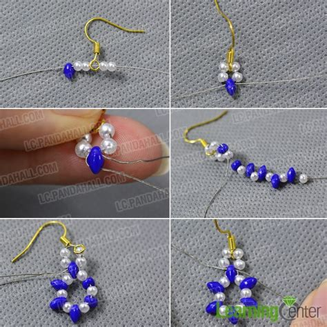 how to bead earrings with seed how to make 2 seed leaves earrings for