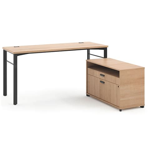 marlin modern home office desk set in wheat eurway