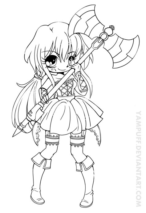 vermillia chibi lineart commission by yampuff on deviantart