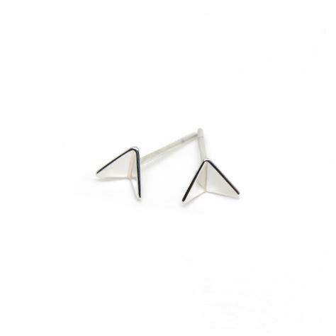 Plane Earrings paper planes sterling silver stud earrings fairina cheng