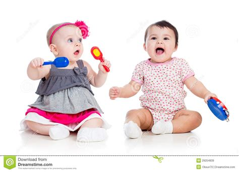 Play Musical Baby babies play musical toys stock image image