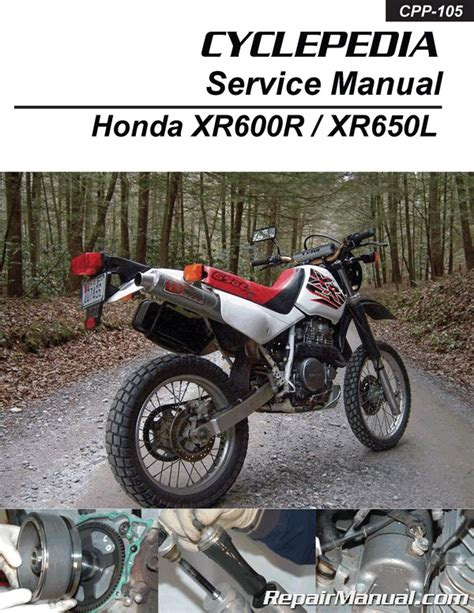 honda xrr xrl motorcycle cyclepedia printed service