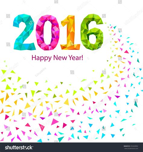 happy new year 2016 greeting card stock vector 355269092