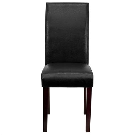 Upholstered Parsons Dining Chair In Black Bt 350 Bk Lea Upholstered Parsons Dining Chairs