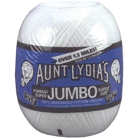 Lydias Jumbo White jumbo crochet cotton white 3991933 hsn
