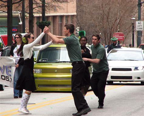 swing dancing atlanta saint patricks day parade free stock photo swing